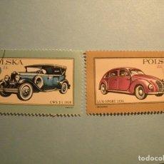 Sellos: POLONIA - COCHES DE ÉPOCA - CWS T-1 1928 Y LUX SPORT 1936.. Lote 236688840