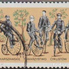 Timbres: POLONIA 1986 SCOTT 2776 SELLO * CICLISMO BICICLETAS PRIMER TOUR A BIELANY, 1887 MICHEL 3069 YV. 2879. Lote 238620425