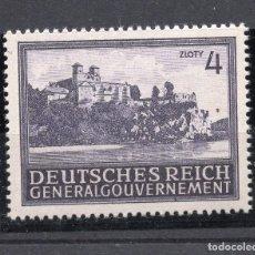 Francobolli: POLONIA OCUPACION ALEMANA II WW , 1943 , STAMP, MICHEL 114, MNH. Lote 238789390