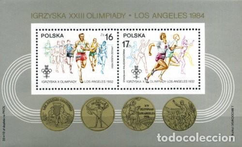 POLONIA , 1984. H/B . XXIII OLIMPIADAS. LOS ANGELES ´84 **. MNH ( 21-93) (Sellos - Extranjero - Europa - Polonia)