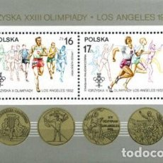Sellos: POLONIA , 1984. H/B . XXIII OLIMPIADAS. LOS ANGELES ´84 **. MNH ( 21-93). Lote 240991900