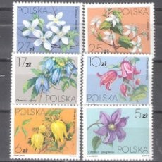 Sellos: POLONIA Nº 2718/23** FLORES. SERIE COMPLETA. Lote 245174540