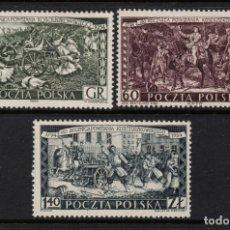 Timbres: POLONIA 789/91** - AÑO 1954 - 160º ANIVERSARIO DE LA INSURRECCION DE KOSCIUSZKO. Lote 249459210