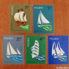 Sellos: POLONIA N°2157/61 MNH** VELEROS 1974 (FOTOGRAFÍA REAL). Lote 252005780