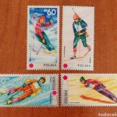 Sellos: POLONIA, JJ.OO DE INVIERNO SAPPORO, JAPÓN 1972 MNH** (FOTOGRAFÍA REAL). Lote 252014590