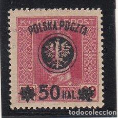 Sellos: POLONIA .106 CON CHARNELA, SOBRECARGA LUBLIN. Lote 252999945