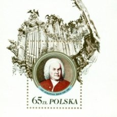 Sellos: ⚡ DISCOUNT POLAND 1985 THE 300TH ANNIVERSARY OF THE BIRTH OF JOHANN SEBASTIAN BACH MNH - COM. Lote 255656975