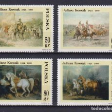 Sellos: ⚡ DISCOUNT POLAND 1997 JULIUSZ KOSSAK PAINTINGS MNH - PAINTINGS, HORSES. Lote 255657015