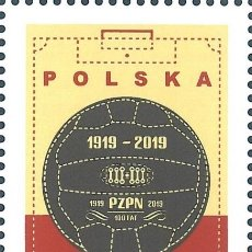Sellos: ⚡ DISCOUNT POLAND 2019 THE 100TH ANNIVERSARY OF THE POLISH FOOTBALL ASSOCIATION MNH - FOOTBA. Lote 255657060