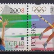 Sellos: ⚡ DISCOUNT POLAND 2008 OLYMPIC GAMES - BEIJING, CHINA MNH - VOLLEYBALL, OLYMPIC GAMES, SWIMM. Lote 255657095