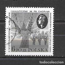 Sellos: CHOPÍN: CONCURSO X DE VIOLÍN , EN VARSOVIA. SELLO AÑO 1980. Lote 261523675