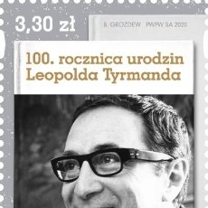 Sellos: ⚡ DISCOUNT POLAND 2020 THE 100TH ANNIVERSARY OF THE BIRTH OF LEOPOLD TYRMAND MNH - WRITERS. Lote 262869875