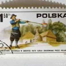 Sellos: SELLO DE POLONIA 1,50 ZL - 1975 - SOPLADOR DE VIDRIO - USADO SIN SEÑAL DE FIJASELLOS. Lote 266881409