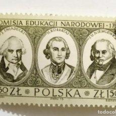 Sellos: SELLO DE POLONIA 1,50 ZL - 1973 - BICENTENARIO COMISION EDUCACION - USADO SIN SEÑAL DE FIJASELLOS. Lote 267079289