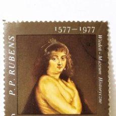 Sellos: SELLO DE POLONIA 5 ZL - 1977 - RUBENS - USADO SIN SEÑAL DE FIJASELLOS. Lote 267081364