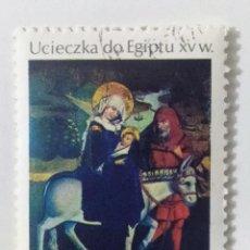 Sellos: SELLO DE POLONIA 1,50 Z - 1974 - HUIDA A EGIPTO - USADO SIN SEÑAL DE FIJASELLOS. Lote 269372118