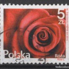 Sellos: POLONIA 2015 FLORES SELLO USADO * LEER DESCRIPCION. Lote 270621413