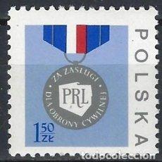 Sellos: POLONIA 1977 - MEDALLA DE LA SEGURIDAD CIVIL - MNH**. Lote 274894748