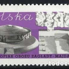 Sellos: POLONIA 1969 - MEMORIAL MAJDANEK - MNH**. Lote 274897228