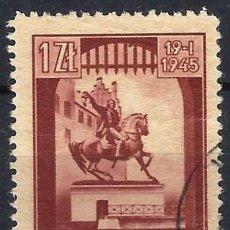 Timbres: POLONIA 1945 - LIBERACIÓN DE CRACOVIA - USADO. Lote 274906648