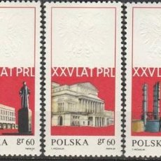 Sellos: POLONIA, 1969. 25º ANIVERSARIO REPUBLICA. SERIE. **.MNH (21-456). Lote 275283358
