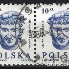 Sellos: POLONIA 1985 - BUSTOS - USADO EN PAREJA. Lote 279362903
