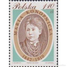 Sellos: PL3980 POLAND 2002 MNH THE 160TH ANNIVERSARY OF THE BIRTH OF MARIA KONOPNICKA. Lote 287535523