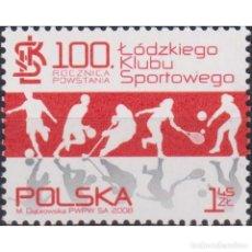 Sellos: PL4393 POLAND 2008 MNH CENTENNIAL OF LODZ SPORTS CLUB. Lote 287535538
