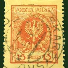 Sellos: MICHEL PL 206 - POLONIA - 15 GR - GROSZ POLACO - 1924. Lote 288307613