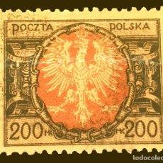 Sellos: MICHEL PL 174 - POLONIA - 200 MP - MARKA POLACO - 1923. Lote 288307823