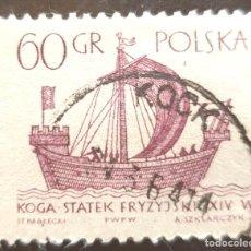 "Sellos: MICHEL PL 1388 - POLONIA - BARCOS | VELEROS - FRISIAN ""KOGGE"" (14TH CENT.) - 1963. Lote 288970453"