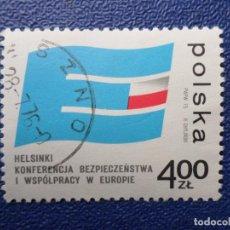 Sellos: *POLONIA, 1975, CONFERENCIA SOBRE SEGURIDAD Y COOPERACION EN EUROPA, YVERT 2229. Lote 289339228