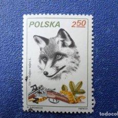 Sellos: *POLONIA, 1981, CAZA, ZORRO, YVERT 2564. Lote 289365138