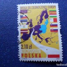 Sellos: *POLONIA, 2004, 1º DE MAYO, ENTRADA DE POLONIA EN LA UNION EUROPEA, YVERT 3856. Lote 289415033