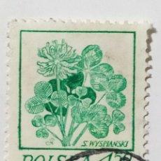 Sellos: SELLO DE POLONIA 4,50 ZT - 1974 - FLORES - USADO SIN SEÑAL DE FIJASELLOS. Lote 289519083
