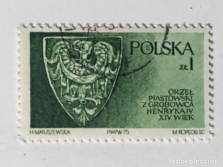 SELLO DE POLONIA 1 ZT - 1975 - DINASTIA PIAST - USADO SIN SEÑAL DE FIJASELLOS (Sellos - Extranjero - Europa - Polonia)