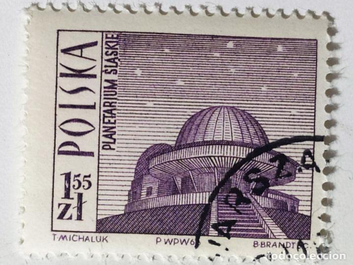 SELLO DE POLONIA 1,55 ZT - 1966 - PLANETARIO - USADO SIN SEÑAL DE FIJASELLOS (Sellos - Extranjero - Europa - Polonia)