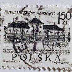 Sellos: SELLO DE POLONIA 1,50 ZT - 1965 - TEATRO NACIONAL - USADO SIN SEÑAL DE FIJASELLOS. Lote 289519888
