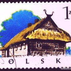 Sellos: MICHEL PL 2302 - POLONIA - 1974 - WOODEN ARCHITECTURE - COTTAGE, KURPIE. Lote 289541663