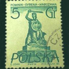 Sellos: MICHEL PL 907 - POLONIA - 1955 - WARSAW MONUMENTS - SYRENA. Lote 289542653