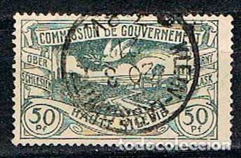 COMMISION DE GOUVERNEMENT (ALTA SILESIA, GUERRA CIVIL (1919-1921) Nº 22, PAISAJE Y PALOMA DE LA PAZ, (Sellos - Extranjero - Europa - Polonia)