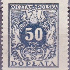 Sellos: 1923 - POLONIA - TASA POSTAL - YVERT 45. Lote 289811913