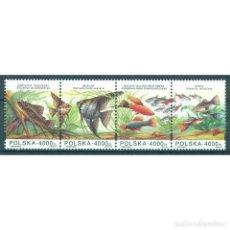 Sellos: ⚡ DISCOUNT POLAND 1994 AQUARIUM FISH MNH - FISH. Lote 289924133