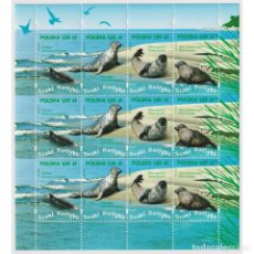 Sellos: ⚡ DISCOUNT POLAND 2009 BALTIC SEA WILDLIFE - FULL SHEET MNH - MAMMALS, SEALS. Lote 289925918