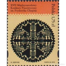 Sellos: PL4801 POLAND 2015 MNH FRYDERIC CHOPIN XVII INTERNATIONAL PIANIST COMPETITION. Lote 293409998