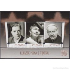 Sellos: PL4807 POLAND 2015 MNH PEOPLE OF CINEMA AND THEATER. Lote 293411443