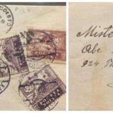 Sellos: O) 1921 POLONIA, PAZ, CAVALRYMAN POLACO, CANCELACIÓN KANCZUGA, CIRCULADA A MODESTO, SELLOS MÚLTIPLES. Lote 294509688