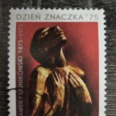 Sellos: POLONIA 1975. DÍA DEL SELLO 1975 - CENTENARIO DEL NACIMIENTO DE XAVIER DUNIKOVSKY. YT:PL 2246,. Lote 295644108