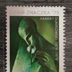 Sellos: POLONIA 1975. DÍA DEL SELLO 1975 - CENTENARIO DEL NACIMIENTO DE XAVIER DUNIKOVSKY. YT:PL 2245,. Lote 295644358