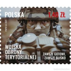 Sellos: ⚡ DISCOUNT POLAND 2021 TERRITORIAL DEFENSE FORCES MNH - WEAPON, MILITARY. Lote 296061138